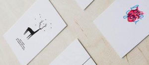 Sustainable Greeting Cards by Tickled Wolf